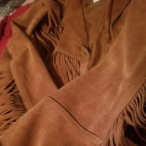 Vintage Fringe suede leather jacket 46